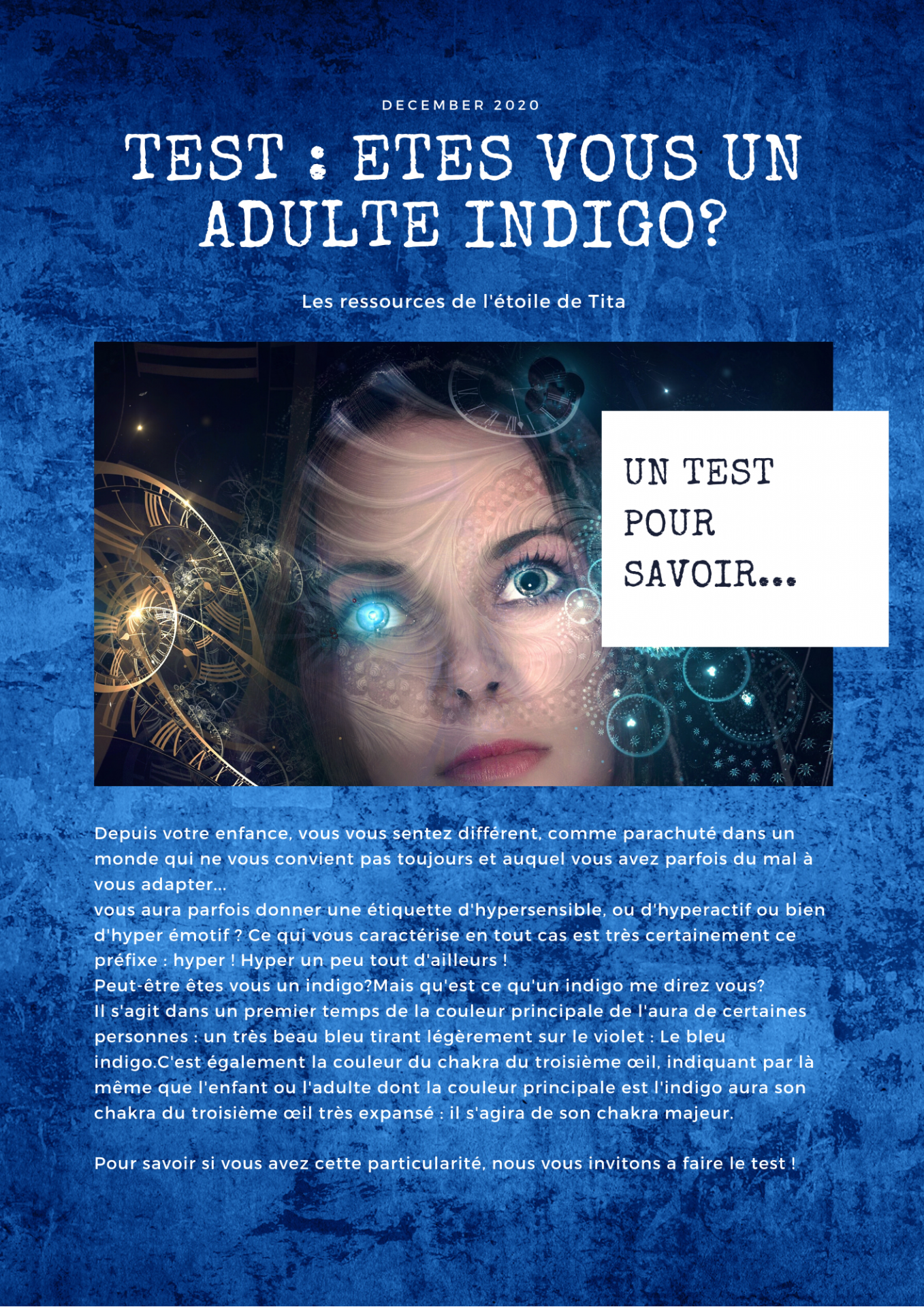 test adulte indigo